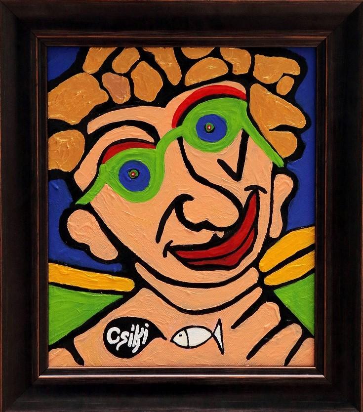30 x 25 cm, akril, vászon, keretezve - ELADÓ - 260.000 Ft