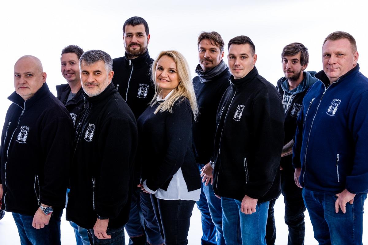 A Borvár Borkereskedés csapata 2020-ban