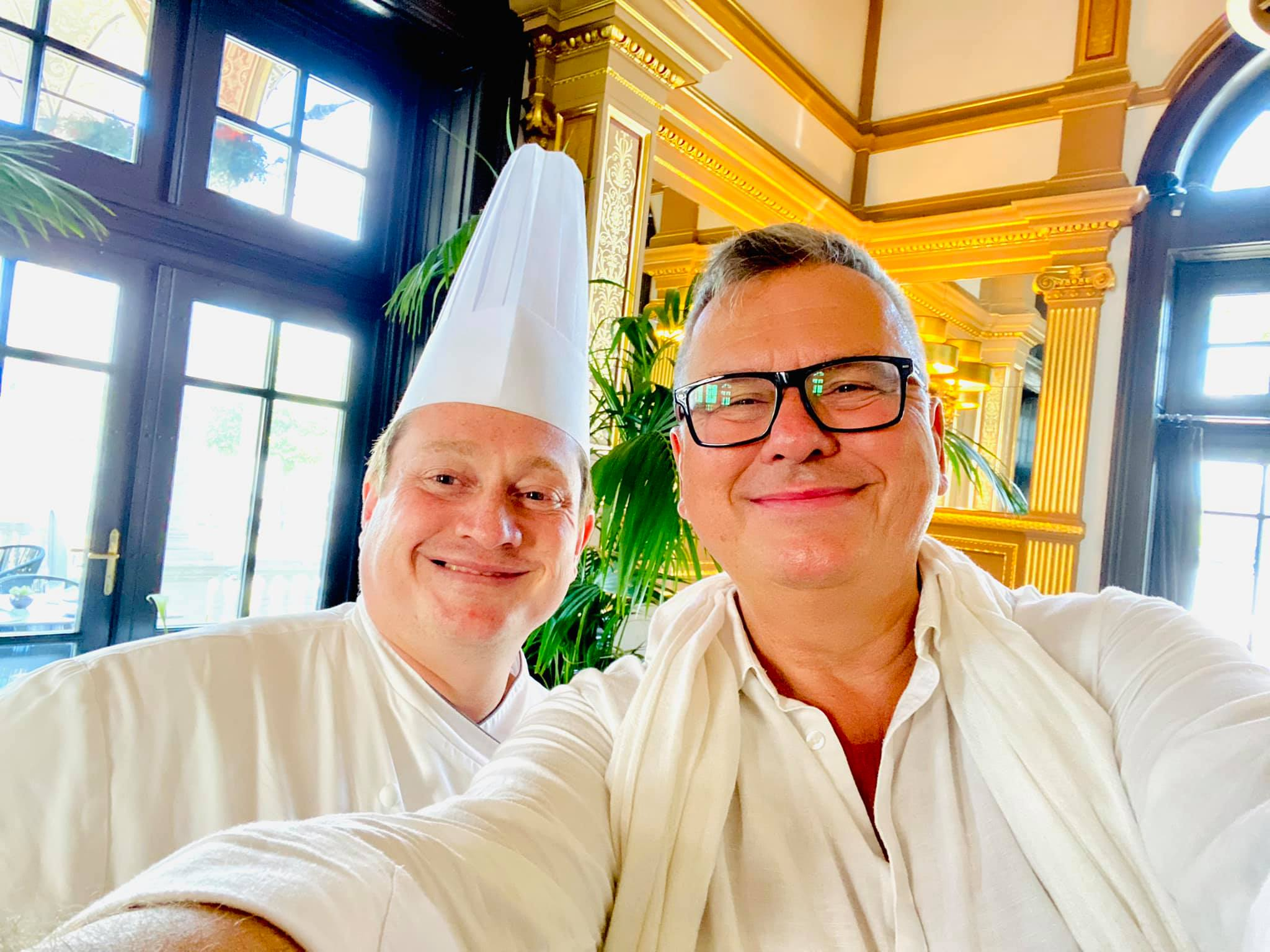 Jeremy Cayron a Felix Kitchen&Bar séfje és Csíki Sándor.
