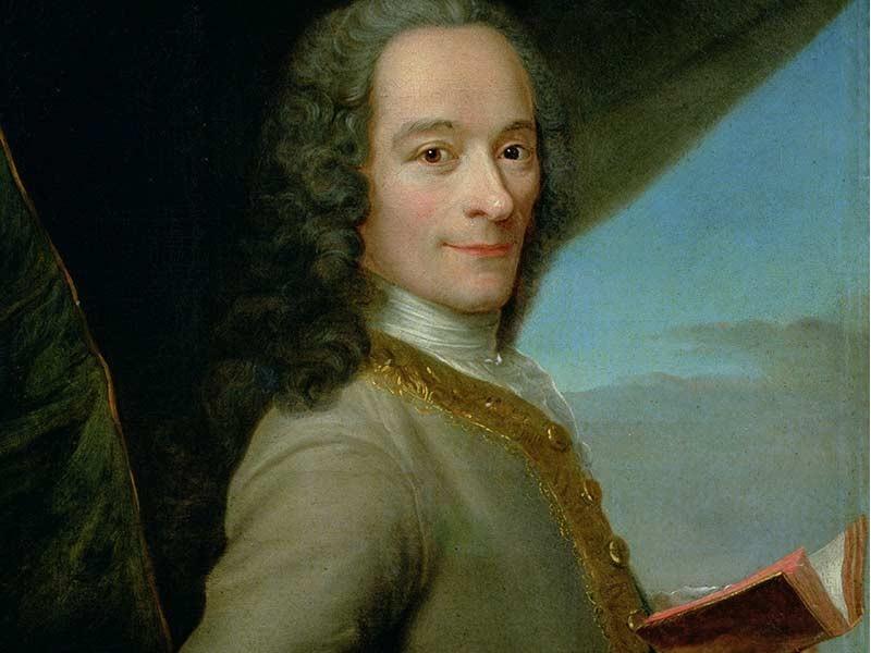 A Cyrano-hoz hasonlóan, szintén nagy orrú Voltaire